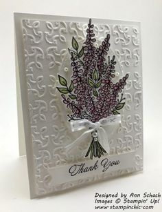 TRY : basket weave Card Making Inspiration, Making Ideas, Diy Cards, Your Cards, Lavender Stamp, Stampin Up Anleitung, Hand Made Greeting Cards, Embossed Cards, Card Maker