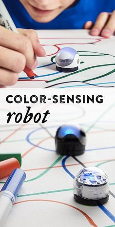 A bridge between technology and family game night, Ozobot encourages kids to play and interact. Kids code Ozobot's movements by drawing color-coded lines on a tablet or on plain old white paper. Put Ozobot on the lines and he'll do what the code says.