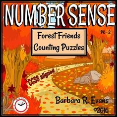 NUMBER SENSE: Forest Friends Counting Puzzles.  Let the forest friends help…