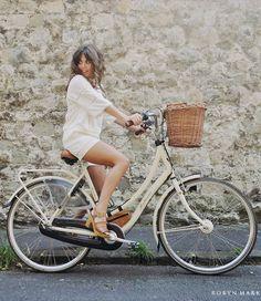 Georgina Walker - Front Row Shop Top, Front Row Shop Co Ord Shorts, Vintage Bike, Office Shoes - Explorer