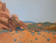 Valley of Fire State Park, acrylic on canvas Valley Of Fire State Park, State Parks, Paintings, Canvas, Art, Tela, Art Background, Paint, Painting Art