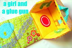 fabric dollhouse or barn - A girl and a glue gun (If I ever get a niece, that is)