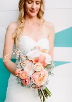 succulent, roses, calla lilys and ranaculus bridal bouquet | photo by Erin Hearts Court | 100 Layer Cake