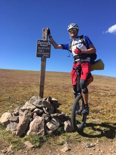 Jamey Mossengren unicycled the 500 mile Colorado Trail in order to raise money for ALS. Colorado Trail, Trail Running, How To Raise Money, Cross Country Running, Treadmill