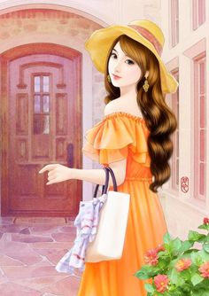 Pin by Lisalovepeter on Hình minh họa in 2019 Lovely Girl Image, Girls Image, Girly Drawings, Art Drawings, Girl Cartoon, Cartoon Art, Art Chinois, Cute Girl Drawing, Anime Love Couple