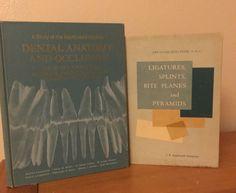 Lot of 2 Vintage Dental Books: Teeth, Dentist, Anatomy and Occlusion, Textbook