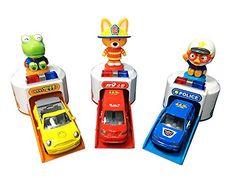 The Little Penguin Pororo Siren Shooting Car Set / Mini Car / Melody / LED / Car Toys