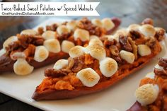 If you're looking for a way to spice up your Thanksgiving side dish menu, this recipe for twice-baked sweet potatoes with spiced walnutshas got you covered. It's the bomb! Not only will you get a gold star for presentation, but it tastes great too....