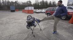 Boston Dynamics' new Spot robot gets knocked down, gets back up again