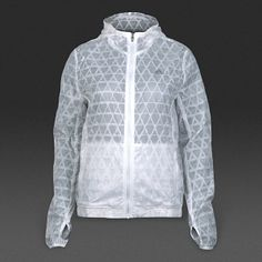 adidas Womens Run Transparent Jacket - White