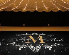 Wedding Dance Floor Decal Wedding Floor Monogram by SignJunkies Reception Rooms, Wedding Reception Decorations, Wedding Ideas, Wall Sticker, Wall Decals, Vinyl Decals, Dance Floor Wedding, Floor Decal, Star Wedding