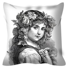 Girl Coloring Pillow By Tinge&Hue