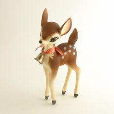 Vintage Deer Figurine Fawn Bambi