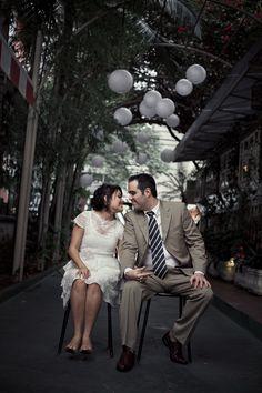 Cabelo de noiva curto liiindo e lugar muito legal (Jardim Aurelia)