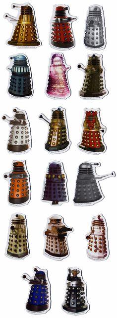 Die Cut Dotor Who Dalek Magnet Set!!
