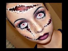 Living doll make up tutorial by EmpressMakeup on Youtube.