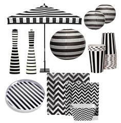 This decoration is perfect for a Black and White party theme | Theme:Black  and White Party | Pinterest