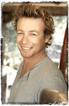 Simon Baker - I just wanna mess with that hair.