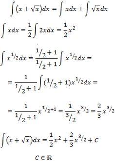 solución de la integral de x + raíz de x