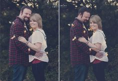 Neely's Photography - engagement type session, couple portraits, Christmas lights