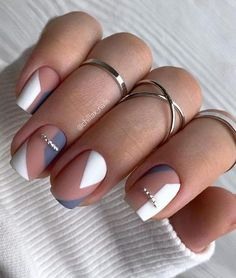 Frensh Nails, Chic Nails, Stylish Nails, Nail Manicure, Hair And Nails, Best Acrylic Nails, Acrylic Nail Designs, Nagellack Design, Minimalist Nails