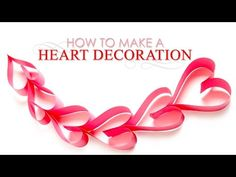 How to Make Paper Hearts Decoration | DIY Paper Heart Decoration | Handmade Paper Crafts - YouTube