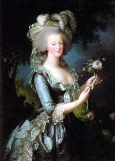 Marie-Antoinette by Elisabeth Vigee-Le Brun.