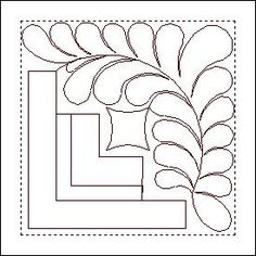 Log Cabin Block 2 - what about this for quilting my planned half flower/half white log cabin quilt?