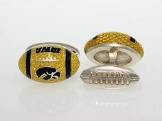Iowa Hawkeye football cufflinks, my brother would love this!