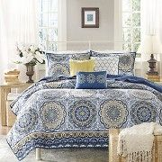 Menara 6 Piece Quilted Coverlet Set