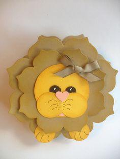Adorable Lion Box using the Floral Frames Framelits