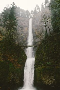Multnomah Falls.  I saw this on a trip to visit my brother.  Breathtaking.