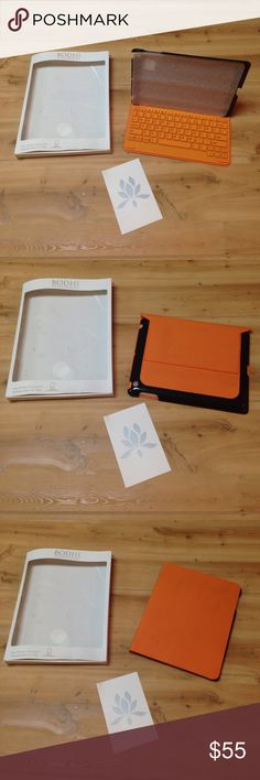 """Bodhi iPad Case with Keyboard and Bluetooth NWT- however, this was the display (purchased at Neiman Marcus in 2015) it does have some dirt, very possibly could be cleaned, but I didn't want to potentially ruin it- so whoever buys it can do it (haha). Bodhi iPad Case with Keyboard and Bluetooth fits 2nd gen iPad and """"The New IPad"""" (remember this was purchased in 2015). Never used! Bodhi Accessories Tablet Cases"""
