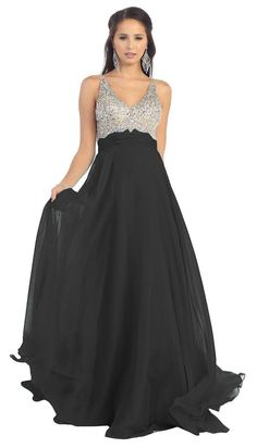 Long Formal Chiffon Prom Plus Size Evevning Dress - The Dress Outlet - 4