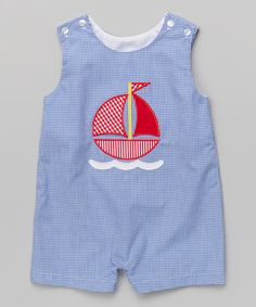 Love this Royal Blue Gingham Sailboat John Johns - Infant & Toddler on Little Boy Outfits, Baby Boy Outfits, Kids Outfits, Couture Bb, Baby Clothes Patterns, Blue Gingham, Baby Sewing, Kind Mode, Kids Wear
