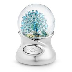 Hand Painted Peacock Water Globe at Things Remembered
