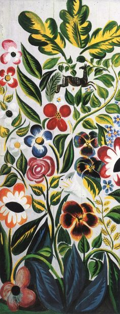 The Athenaeum - Floral Decoration for a Door (Raoul Dufy - No dates listed)