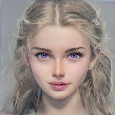 Digital Art Girl, Digital Portrait, Portrait Art, Aquarius Aesthetic, Female Character Inspiration, Beautiful Fantasy Art, Model Face, Pale Skin, Character Portraits