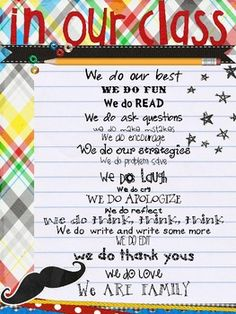 Cute poster - uses some different wordings for older kids.