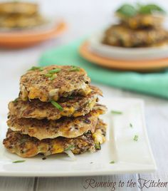 Gluten Free Eggy Quinoa Corn Fritters from Running to the Kitchen.