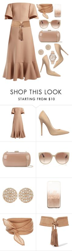 """""""Neutral Chic"""" by thefabulousfashionblog ❤ liked on Polyvore featuring Valentino, Jimmy Choo, Sergio Rossi, Tom Ford, Dana Rebecca Designs, claire's, Balmain, Michael Kors and chic"""