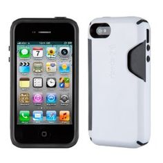 Speck Products CandyShell Card Case w/ credit card/cash holder for iPhone 4/4S -White/Charcoal $26.74