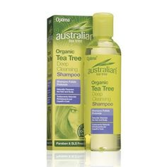 Australian Tea Tree Organic Deep Cleansing Shampoo - Australian Tea Tree Shampoo utilises the cleansing and antiseptic properties of Tea Tree Oil in an invigorating hair treatment. This deep cleansing shampoo helps keep the hair healthy, strong and shiny whilst nourishing and moisturising the scalp. Natural Organic Shampoo, Deep Cleansing Shampoo, Australian Tea Tree, Tea Tree Shampoo, Tea Tree Oil, Healthy Hair, Whitening, Moisturizer, Conditioner