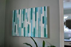 Tonal art DIY from Young House Love How To Make A Simple Geometric Canvas Painting Diy Wand, Young House Love, Diy Artwork, Diy Wall Art, Fun Crafts For Kids, Diy Arts And Crafts, Home Design Blogs, Cuadros Diy, Diy Canvas Art