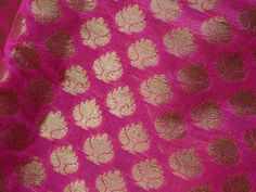 Fabric for Sewing Magenta, 1 Gram Gold Jewellery, Cotton Silk Fabric, Fabric Names, Indian Fabric, Brocade Fabric, Couture, Silk Thread, Fabric Crafts
