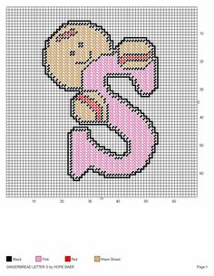 GINGERBREAD LETTER S by HOPE BAER