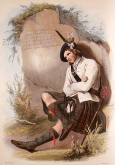 A Victorian Portrait of A Member Of Clan MacDonald By Artist R.R. McIan
