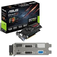 Asus US, GeForce GTX650 1GB (Catalog Category: Video Cards / Video Cards- PCI-e nVIDIA) by Asus. $176.62. Asus US, GeForce GTX650 1GB (Catalog Category: Video Cards / Video Cards- PCI-e nVIDIA) The ASUS GTX650-DC-1GD5 features 1GB GDDR5 memory on board and supports DirectX 11  4.2. ASUS unique DirectCU thermal design allows all-copper heat pipes to touch GPU directly so that it results in better heat dissipation. The performance is up to 20% cooler than ...