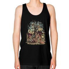 Tales of A Scorched Earth Unisex Fine Jersey Tank (on man)