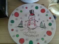 Christmas plate done with sharpies / getting my craft on...